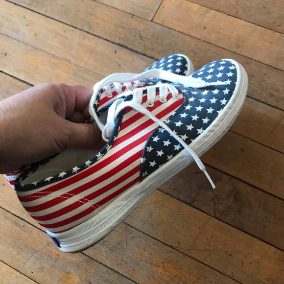 Keds flag design shoes